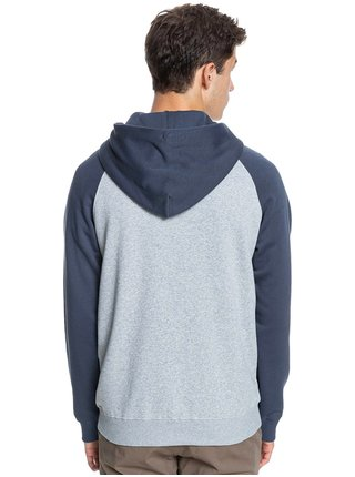 Quiksilver EVERYDAY SCREEN LIGHT GREY HEATHER pánská mikiny na zip - šedá