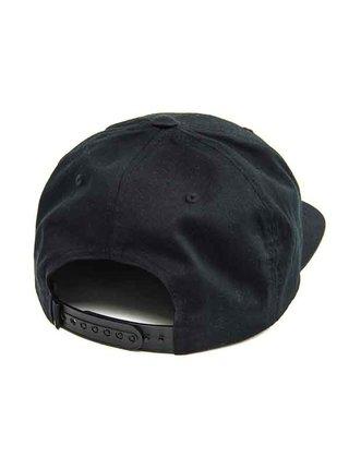 Horsefeathers HEATH black kšiltovka s rovným kšiltem - černá