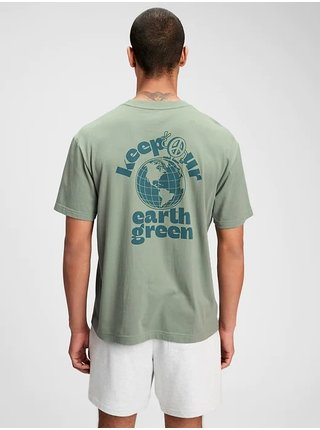 Zelené pánské tričko the gen good graphic t-shirt