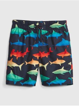 Modré klučičí dětské plavky swim trunk