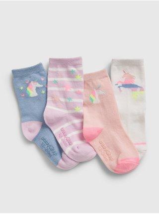 Barevné  dětské ponožky unicorn socks, 4 páry