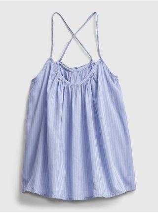 Modré dámské tílko dreamwell shirred racerback cami