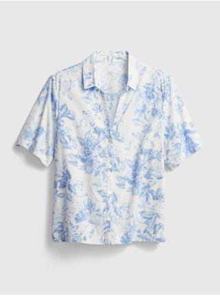 Bílá dámská košile poplin pajama shirt