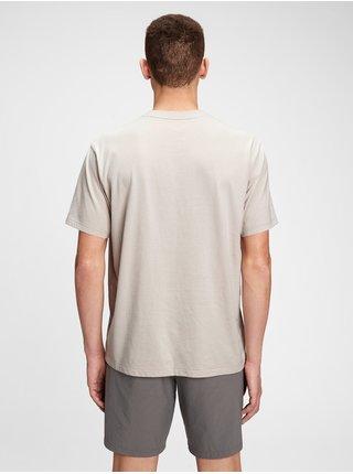 Šedé pánské tričko GAP Logo pocket t-shirt
