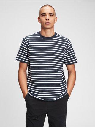 Modré pánské tričko organic cotton pocket t-shirt