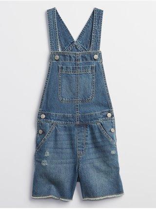 Modré holčičí dětské kraťasy destructed shortalls