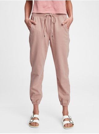 Růžové dámské kalhoty rib pull on jo