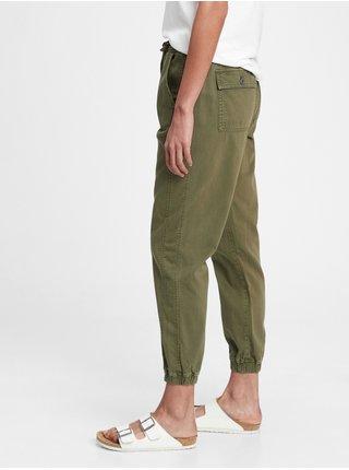 Zelené dámské kalhoty rib pull on jo