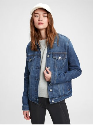 Modrá dámská džínová bunda icon jacket st