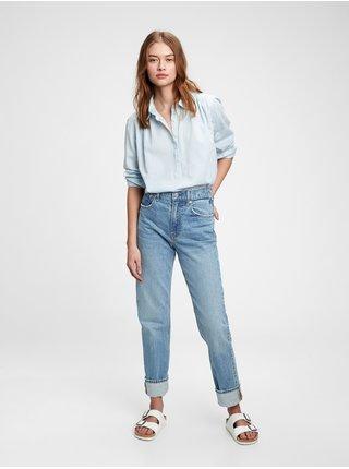 Modrá dámská košile ls pleat popov