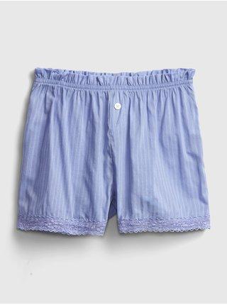 Modré dámské pyžamo vé kraťasy mothers day la