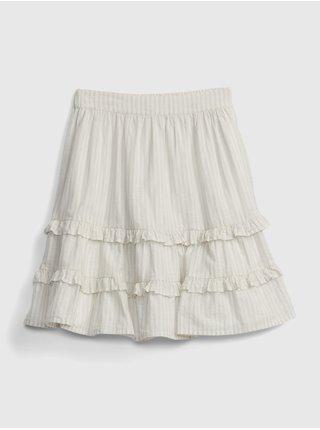 Bílá holčičí dětská sukně stripe skirt