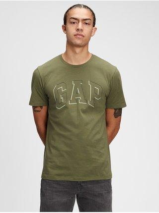 Zelené pánské tričko GAP Logo raised arch t