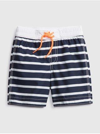 Modré klučičí dětské plavky stripe swim trunks