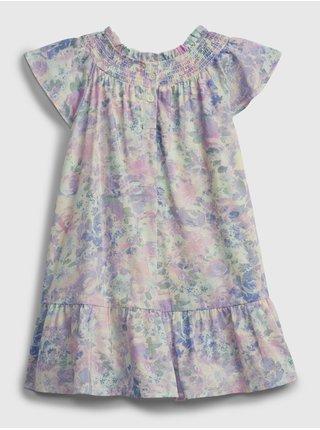Barevné holčičí dětské šaty floral smocked dress