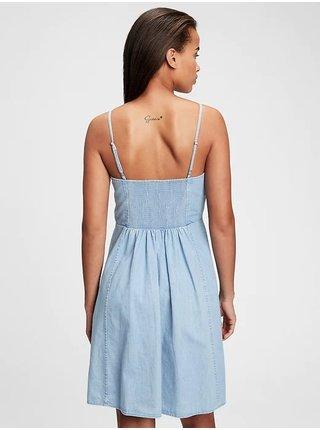 Modré dámské šaty fit & flare cami denim dress