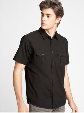 Černá pánská košile short sleeve utility shirt