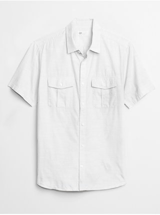 Bílá pánská košile short sleeve utility shirt