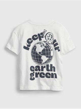 Bílé klučičí dětské tričko gen good graphic t-shirt