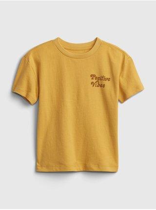 Žluté klučičí dětské tričko gen good graphic t-shirt
