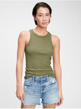 Zelené dámské tílko sleeveless halter-neck