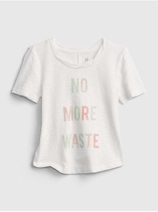 Bílé holčičí dětské tričko gen good graphic t-shirt