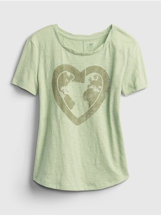 Zelené holčičí dětské tričko gen good graphic t-shirt