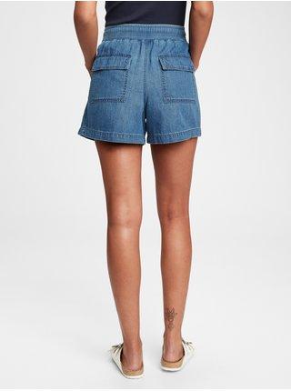 Modré dámské džínové kraťasy pull on short