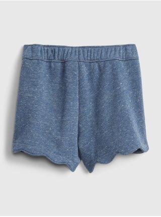 Modré holčičí dětské kraťasy scalloped pull-on shorts