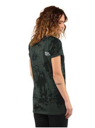 Horsefeathers RENATA gray tie dye dámské triko s krátkým rukávem - černá