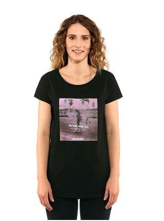 Horsefeathers RENATA black dámské triko s krátkým rukávem - černá
