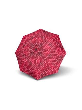 Knirps T.200 Regenerate Red plně automatický skládací deštník - Červená