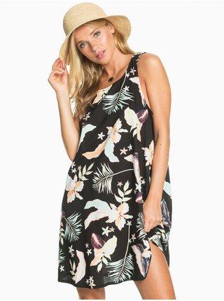Roxy SWEET WHISPER ANTHRACITE LARGE PRASLIN krátké letní šaty - černá