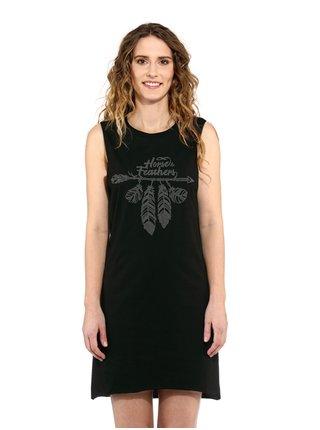 Horsefeathers KIM black krátké letní šaty - černá