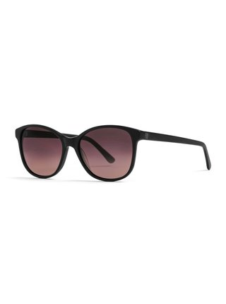 Horsefeathers CHLOE matt black/violet fade out sluneční brýle pilotky - černá