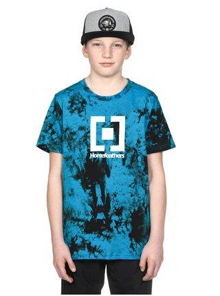 Horsefeathers BASE BLUE TIE DYE dětské triko s krátkým rukávem