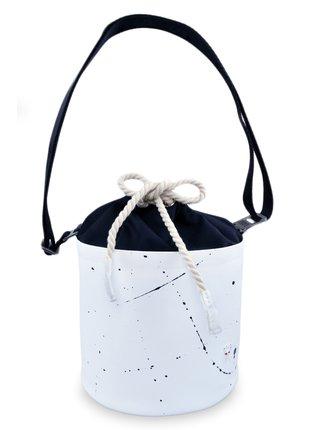 Xiss biela crossbody kabelka Mini White Splash