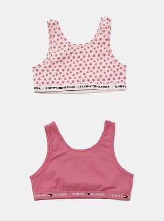 Růžový 2 pack dívčích podprsenek Tommy Hilfiger Bralette