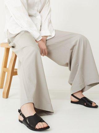 Čierne dámske kožené sandále Vagabond