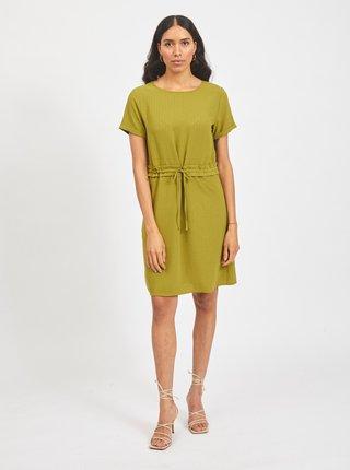 Zelené šaty so zaväzovaním VILA Lovie