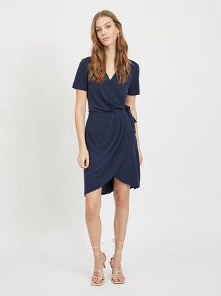 Tmavě modré zavinovací šaty VILA Nayeli