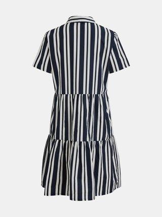 Tmavomodré pruhované košeľové šaty VILA Mosophy