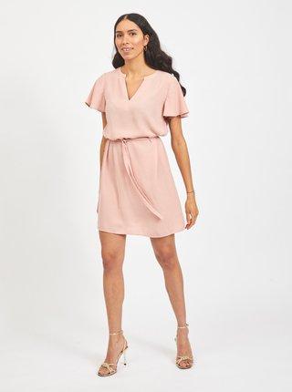 Ružové šaty so zaväzovaním VILA Jahula