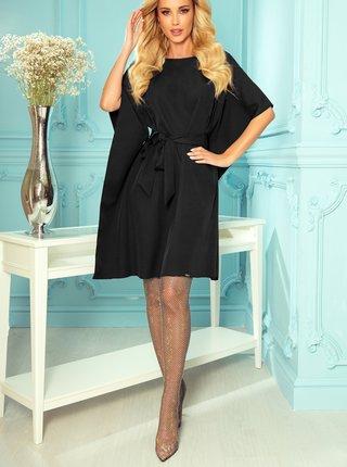 Čierne šaty s zaväzovaním numoco