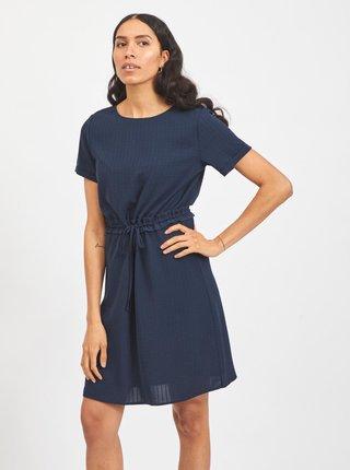 Tmavomodré šaty so zaväzovaním VILA Lovie
