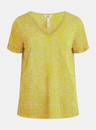 Žluté vzorované tričko .OBJECT Tessi