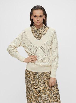 Krémový sveter .OBJECT Melanie