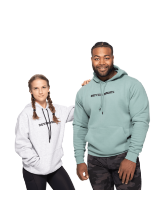 Unisex mikina Better Bodies Logo Hoodie Teal Green
