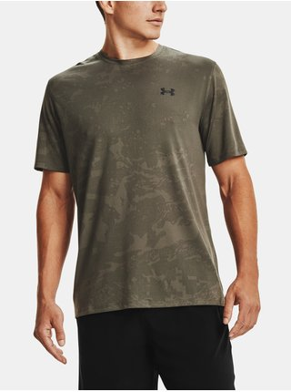 Tričko Under Armour UA Training Vent Camo SS-GRN