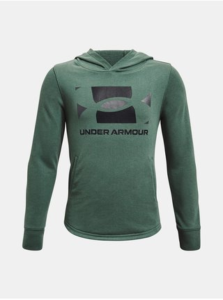Mikina Under Armour UA RIVAL TERRY HOODIE - zelená